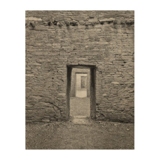 Pueblo Bonita Doorway Wood Wall Art