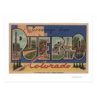 Pueblo, Colorado - Large Letter Scenes 2 Postcard