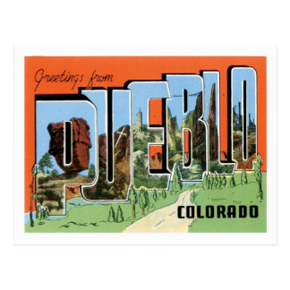 Pueblo Colorado Travel America US City Postcard