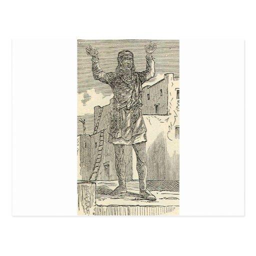 Pueblo Indian At Prayer Postcard