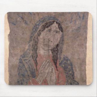 Pueblo Indian hide Painting of a Madonna, 1675 Mousepad