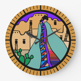 Pueblo Native American Southwest Design Large Clock