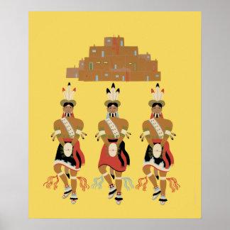 Pueblo Turtle Dancers Poster