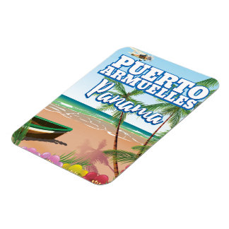 Puerto Armuelles Panama Beach travel poster Magnet