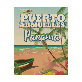 Puerto Armuelles Panama vacation travel poster