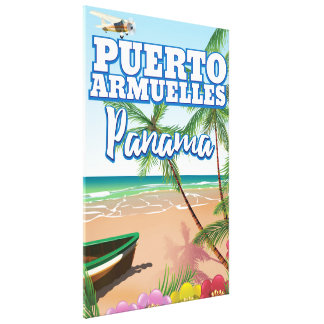 Puerto Armuelles Panama vacation travel poster Canvas Print