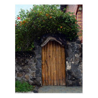 Puerto Ayora Door, Galapagos Islands Postcard