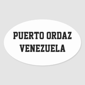 Puerto Ordaz Venezuela oval stickers