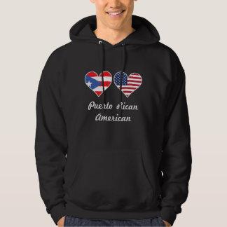 Puerto Rican American Flag Hearts Hoodie