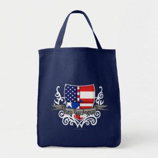 Puerto Rican-American Shield Flag Bags