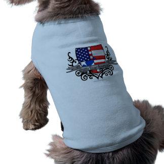 Puerto Rican-American Shield Flag Pet T Shirt