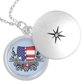 Puerto Rican-American Shield Flag Lockets