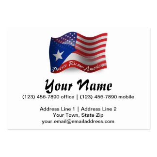 Puerto Rican-American Waving Flag Pack Of Chubby Business Cards