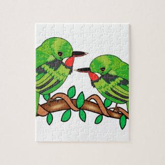 Puerto Rican bird love art Jigsaw Puzzle