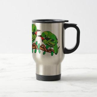 Puerto Rican bird love art Travel Mug