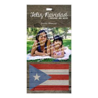 Puerto Rican Christmas Feliz Navidad Personalized Photo Card