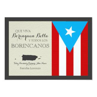 Puerto Rican Christmas: Patriotic Flag 13 Cm X 18 Cm Invitation Card