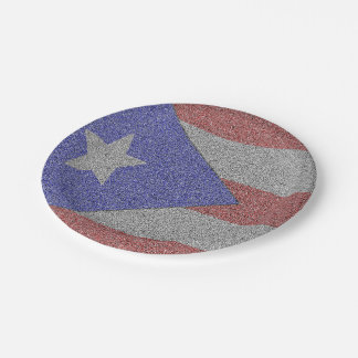 Puerto Rican Flag 7 Inch Paper Plate