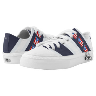 Puerto Rican Flag: Classic Printed Shoes