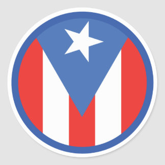 Puerto Rican Flag Classic Round Sticker