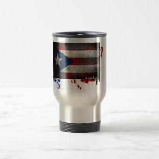 Puerto Rican Flag Coffee Travel Mug