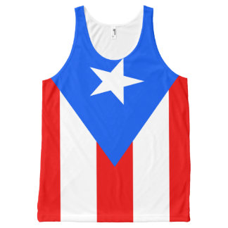 Puerto rican flag designs All-Over print singlet