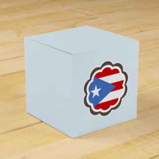 Puerto Rican Flag Flower Wedding Favour Box
