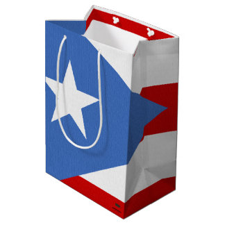 Puerto Rican Flag Medium Gift Bag