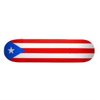 Puerto Rican Flag Skateboard. United States, USA 21.6 Cm Skateboard Deck