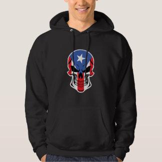 Puerto Rican Flag Skull Hoodie