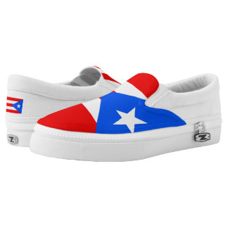 Puerto Rican flag Slip On Shoes