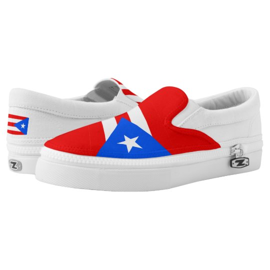 Puerto Rican Flag Slip-On Shoes