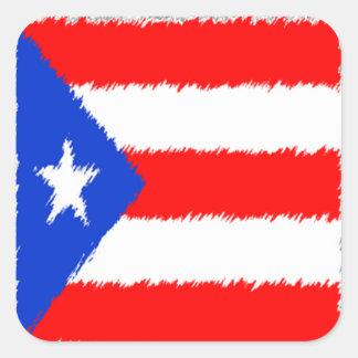 Puerto Rican Flag Square Sticker