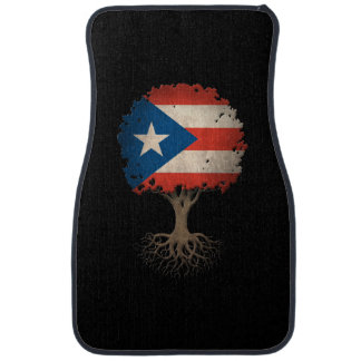 Puerto Rican Flag Tree of Life Customizable Car Mat