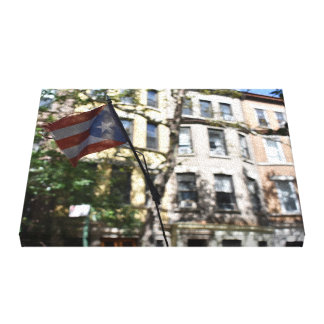 Puerto Rican Flag Upper West Side New York City NY Canvas Print