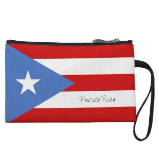 Puerto Rican Flag Wristlet