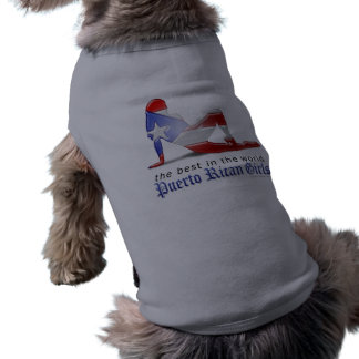 Puerto Rican Girl Silhouette Flag Dog Clothes