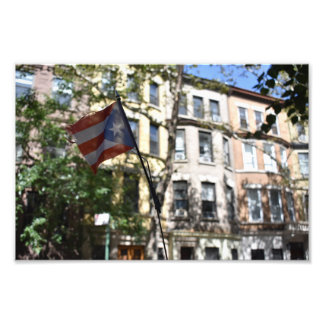 Puerto Rican Pride New York City Brownstones NYC Photo Print