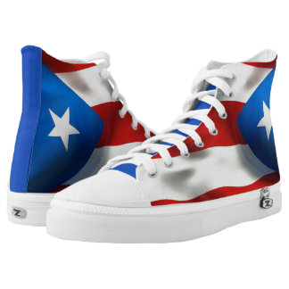 Puerto Rican Pride Printed Shoes