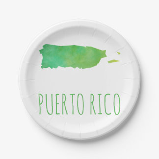 Puerto Rico 7 Inch Paper Plate