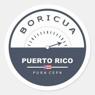 Puerto Rico Boricua de Pura Cepa Classic Round Sticker