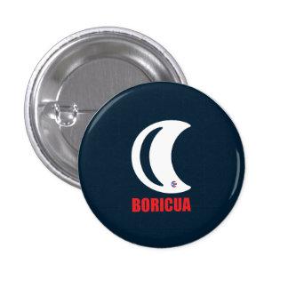 Puerto Rico: Boricua Hasta en la Luna 3 Cm Round Badge