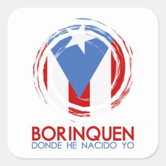 Puerto Rico Borinquen Square Sticker