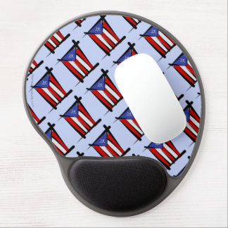 Puerto Rico Brush Flag Gel Mouse Pad