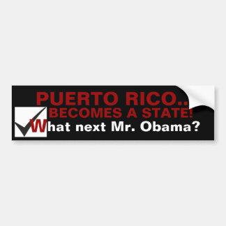 """""""Puerto Rico"""" Bumper Sticker"""
