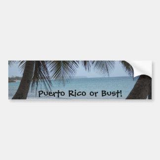 Puerto Rico Bumper Sticker Car Bumper Sticker