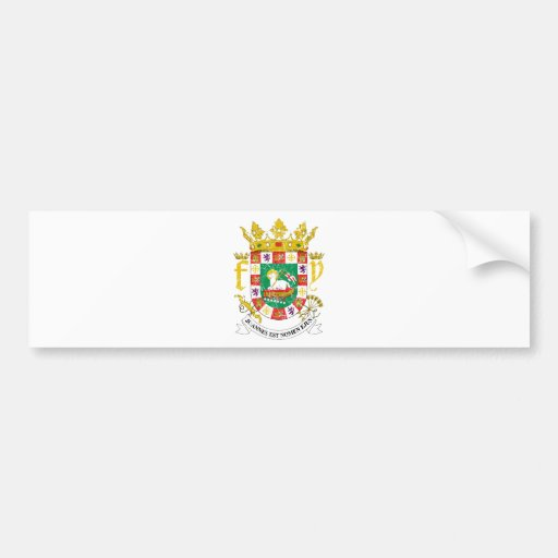 Puerto Rico Coat Of Arms Bumper Stickers
