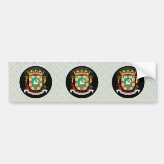 Puerto Rico Coat of Arms detail Bumper Sticker
