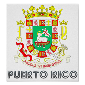 Puerto Rico Coat of Arms Poster