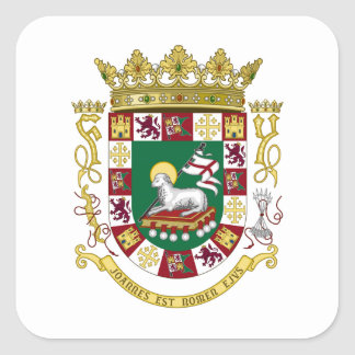 Puerto Rico Coat of Arms Square Sticker
